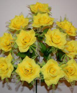 Искусственный цветок - Роза с резеткой 12-ка R-20