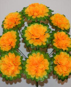 Искусственные цветы-Калинка листок 9-ка R-630