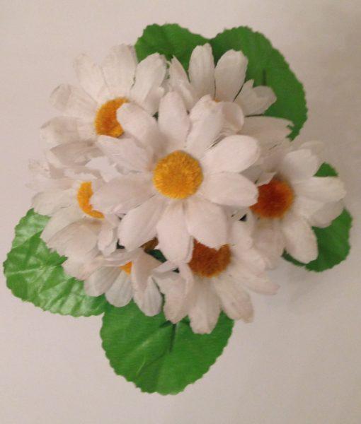 Искусственный цветок — Ромашка белая 7-ка Z-87