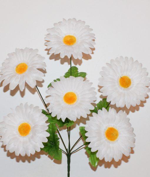 Искусственный цветок — Ромашка дешевка 6-ка  R-44