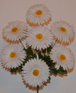 Искусственный цветок - ромашка цветная 7-ка R-524