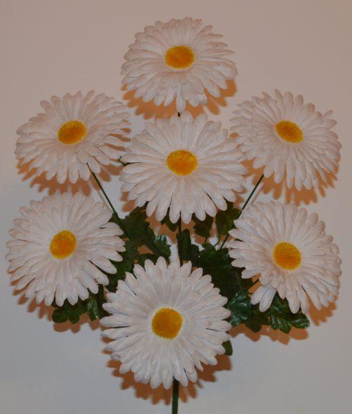 Искусственный цветок — ромашка цветная 7-ка R-524