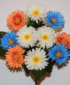 Искусственные цветы Ромашка-микс с зеленю R-25