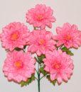Искусственный цветок - Георгина атласна 6 голов R-29