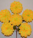 Искусственные цветы -Георгина красная нога 6-ка R-58