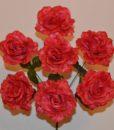 Искусственные цветы Мак красный 7-ка R-78