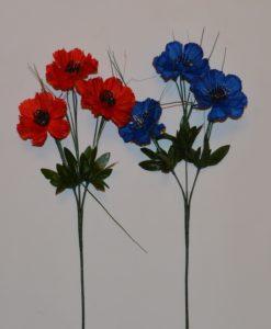 Искусственные цветы Ветка Волошка 3-ка B-11