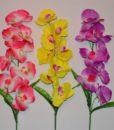 Искусственные цветы Ветка Орхидея B-3