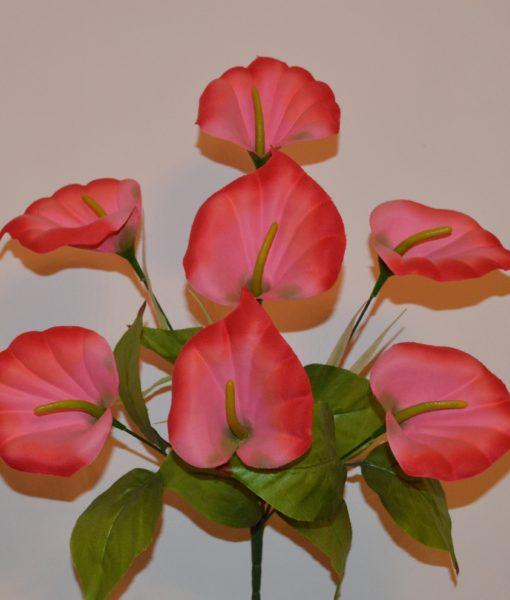 Искусственные цветы — Кала бархатная 7 голов R-539