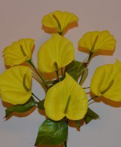Искусственные цветы - Кала бархатная 7 голов R-539