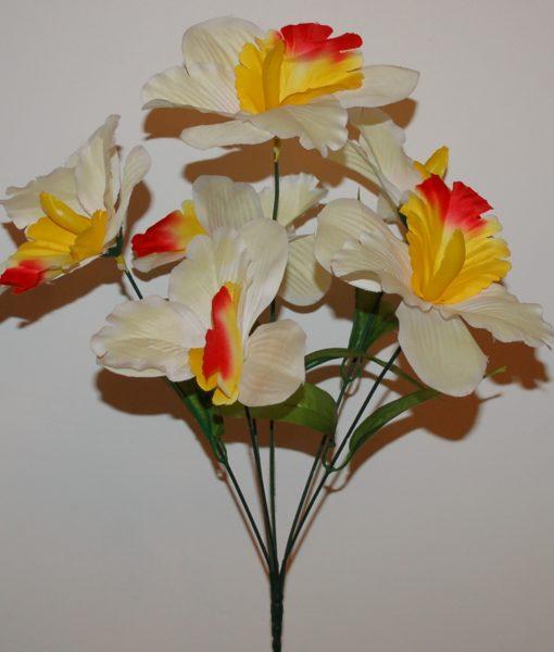 Искусственные цветы Ирис натуральный 7-ка R-83