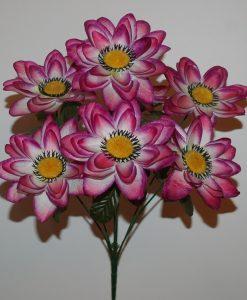 Искусственные цветы Лотос черная средина R-87