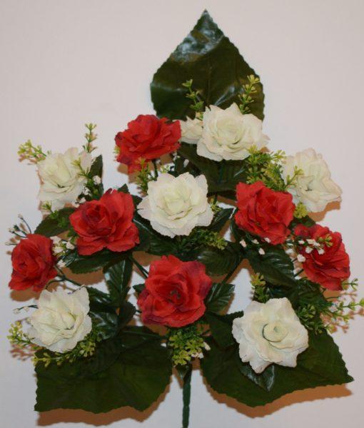 Искусственные цветы — Роза микс с пластмаской  R-105