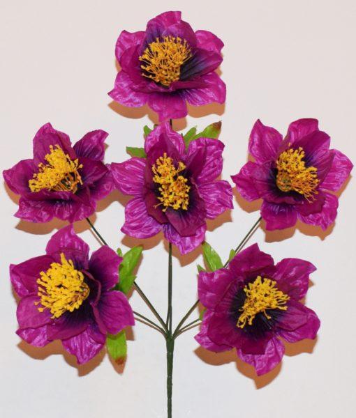 Искусственные цветы мальва с присыпкой R-109
