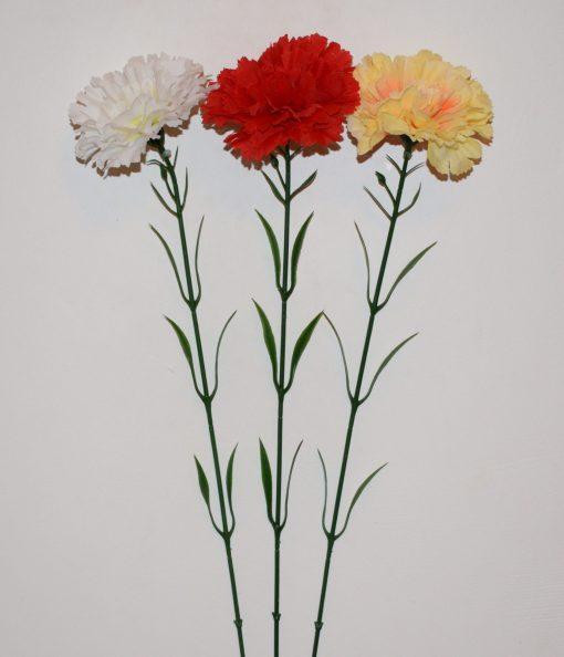 Искусственные цветы Ветка Гвоздика атласная B-18