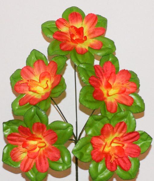 Искусственные цветы — Мальва-крупный лист с кукурузкой 5-ка R-16