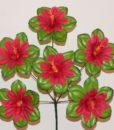 Искусственные цветы — Мальва-крупный лист с кукурузкой 6-ка R-323