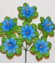Искусственные цветы - Мальва-крупный лист с кукурузкой 6-ка R-323