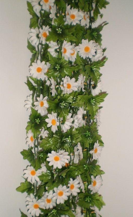 Искусственные цветы Цепочка ромашка белая С-5