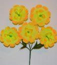 Искусственные цветы-Дешовка 5-ка с тычинкой R-233