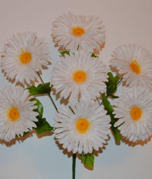 Искусственные цветы-Ромашка цветная 7-ка R-235