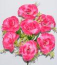Искусственный цветок - Роза с пластмаской R-180