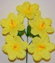 Искусственные цветы - Дешевка мальва выбитая R-239