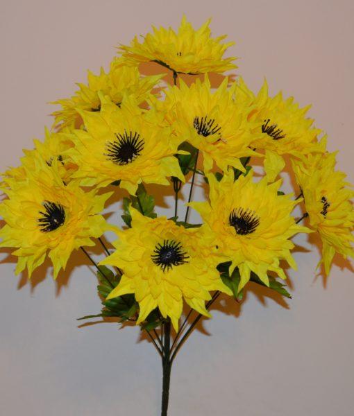 Искусственные цветы-Астра чорная средина R-251