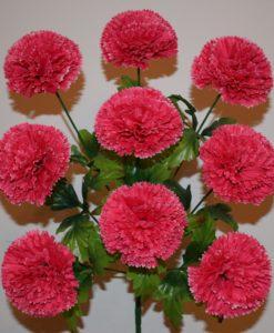 Искусственные цветы- Гвоздика высокая 9-ка R-218