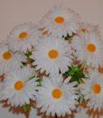 Искусственные цветы ромашка белая 9-ка R-155