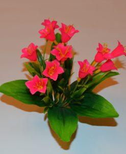 Искусственный цветок -пластмасовый Колокольчик-заливка Z-23