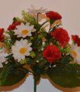 Искусственные цветы Букет гвоздика-ромашка R-189