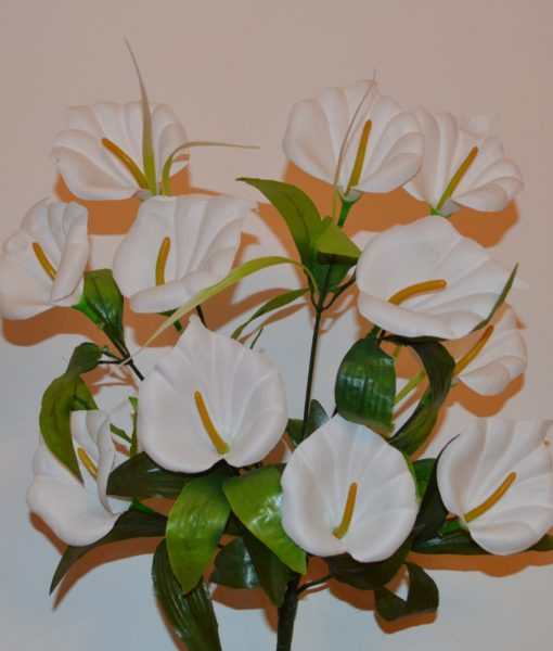 Искусственные цветы Кала белая 11-ка R-197