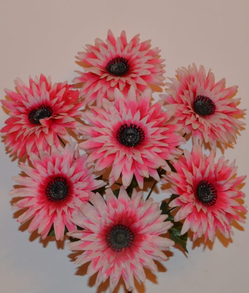 Искусственные цветы Ромашка чорная средина R-200