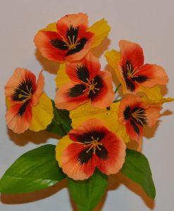 Искусственный цветок —заливка Анютины глазки Z-29