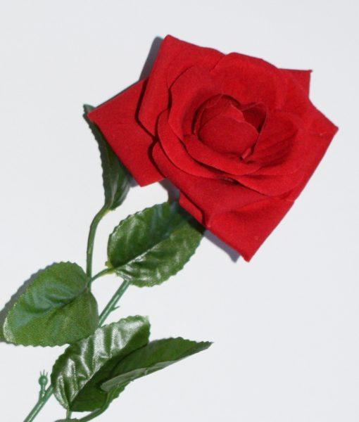 Искусственные цветы-Роза открытая бархат B-30
