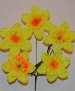 Искусственные цветы-Нарцис дешевка 5-ка R-287