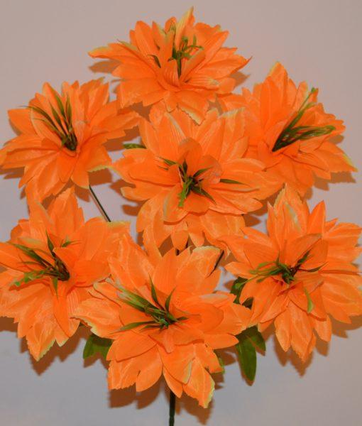 Искусственные цветы-Ананас атласный с зеленю R-267