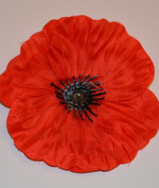 Искусственные цветы Головка мак красный G-30