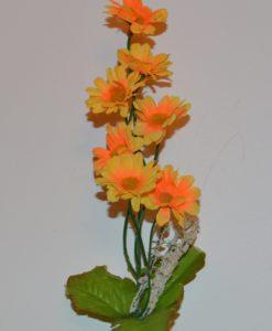 Искусственные цветы-Ветка ромашка цветная 7-ка B-28