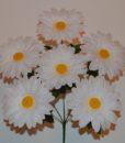 Искусственные цветы-Ромашка белая 6-ка R-317