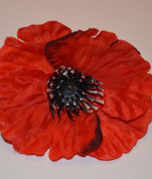 Искусственные цветы- Головка мак красный G-51