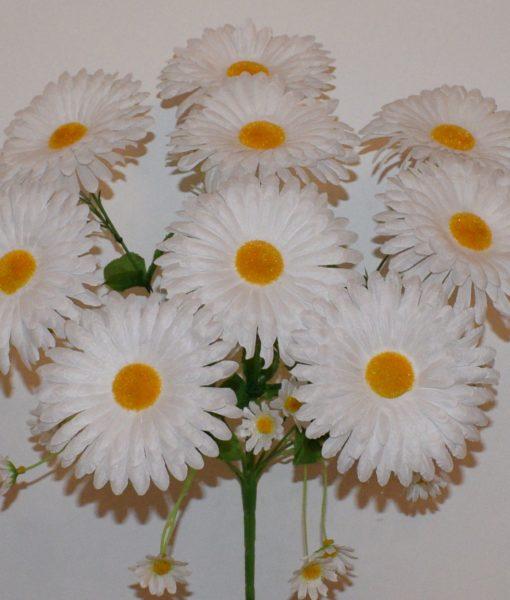 Искусственные цветы —Ромашка с детками белая 9-ка R-338