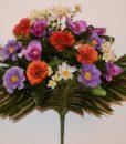 Искусственные цветы —Маргаритка с орхидейкой R-368