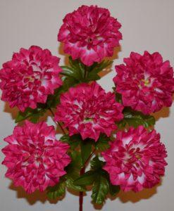 Искусственные цветы —Гортензия пышная красная нога 6-ка R-364