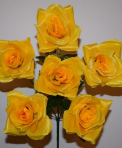 Искусственные цветы —Роза атласная 6-ка R-357