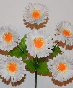 Искусственные цветы —Ромашка белая 6-ка R-356