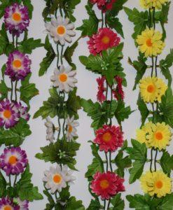 Искусственные цветы Цепочка ромашка цветная С-18