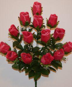 Искусственные цветы —Бутон кашка с зеленью R-372