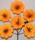 Искусственные цветы Дешевка атлас 6-ка R-17